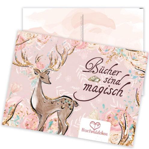 Postkarte »Bücher sind magisch«