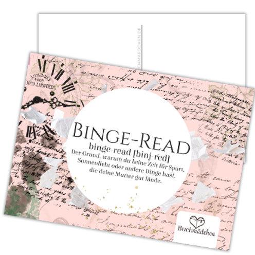 Postkarte »Binge-Read«