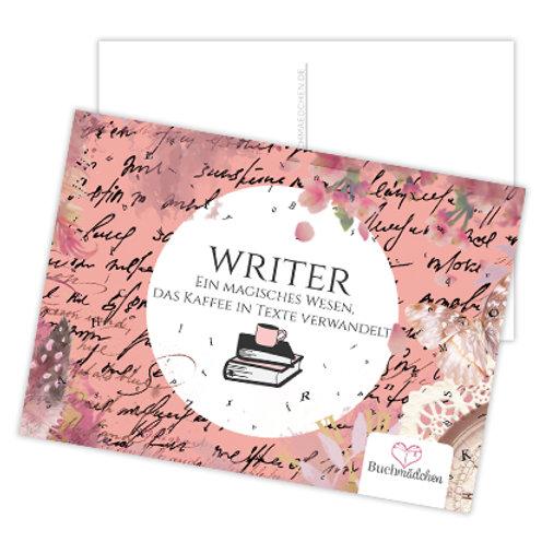 Postkarte »Writer«