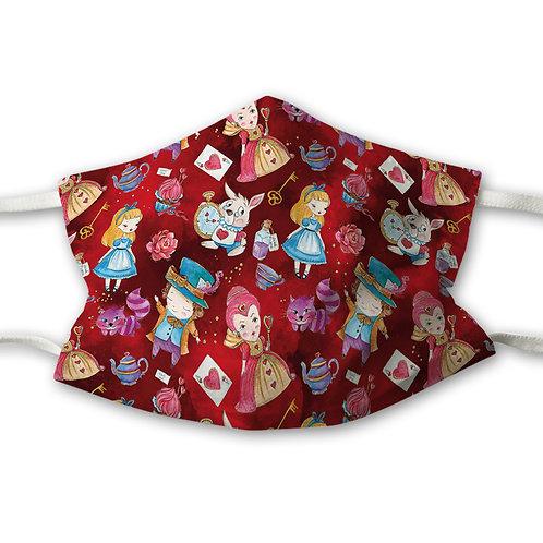 Mundnasenschutz Alice rot + GRATIS pinker FFP2 Maske
