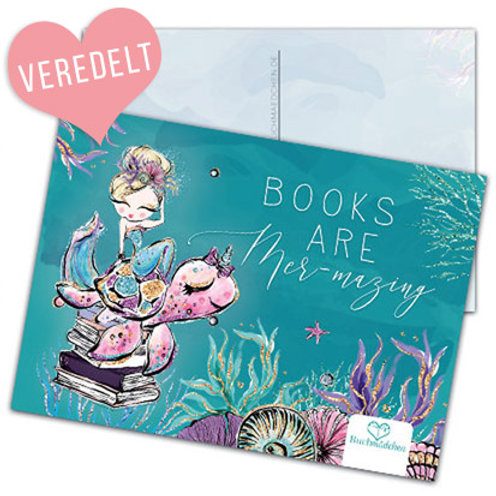 Postkarte »Books are mer-mazing