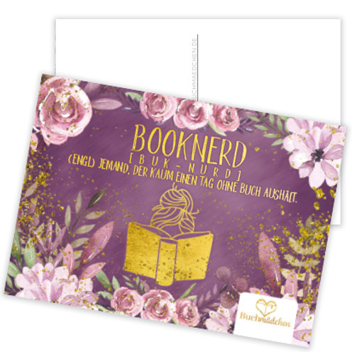 Postkarte »Booknerd«