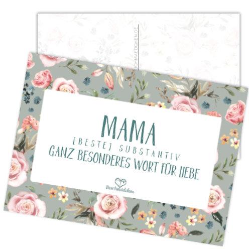 Postkarte »Mama«