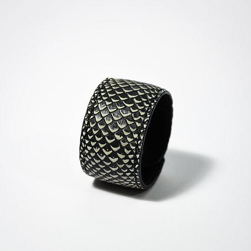 Armband met zwart/witte print