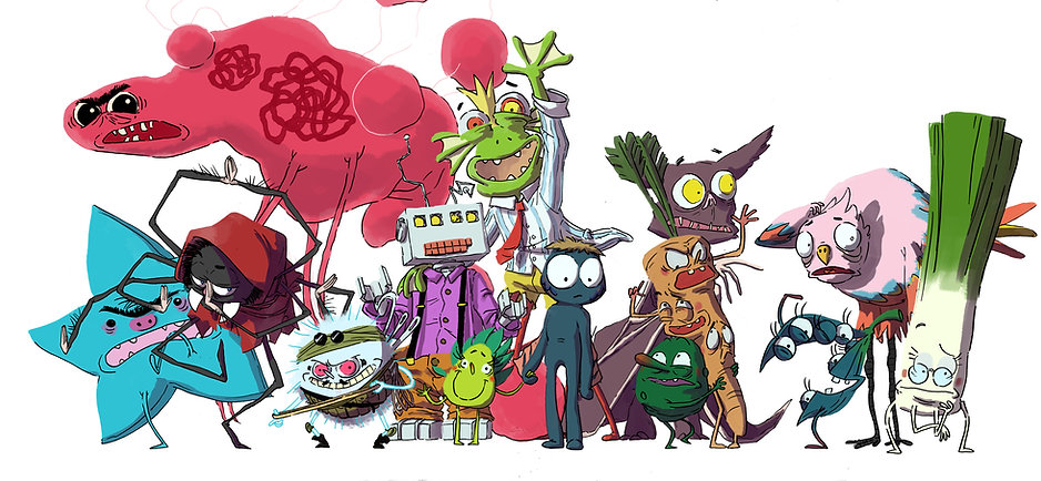 Characters Poster v0,7  - new fishboy sk