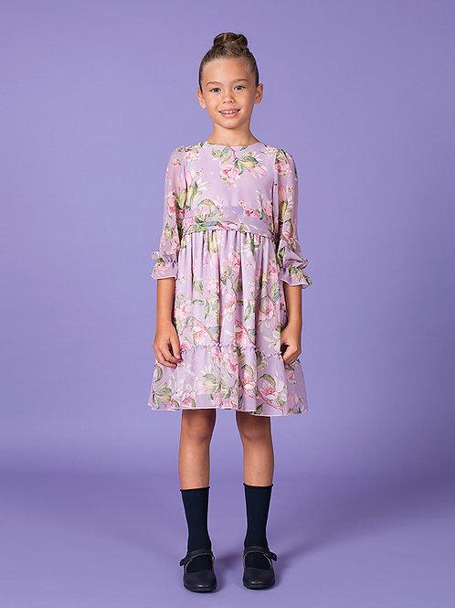 Lilac Flower Alessandra Dress