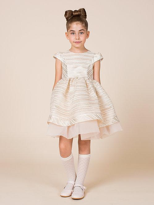 Flared Jacquard Cara Dress