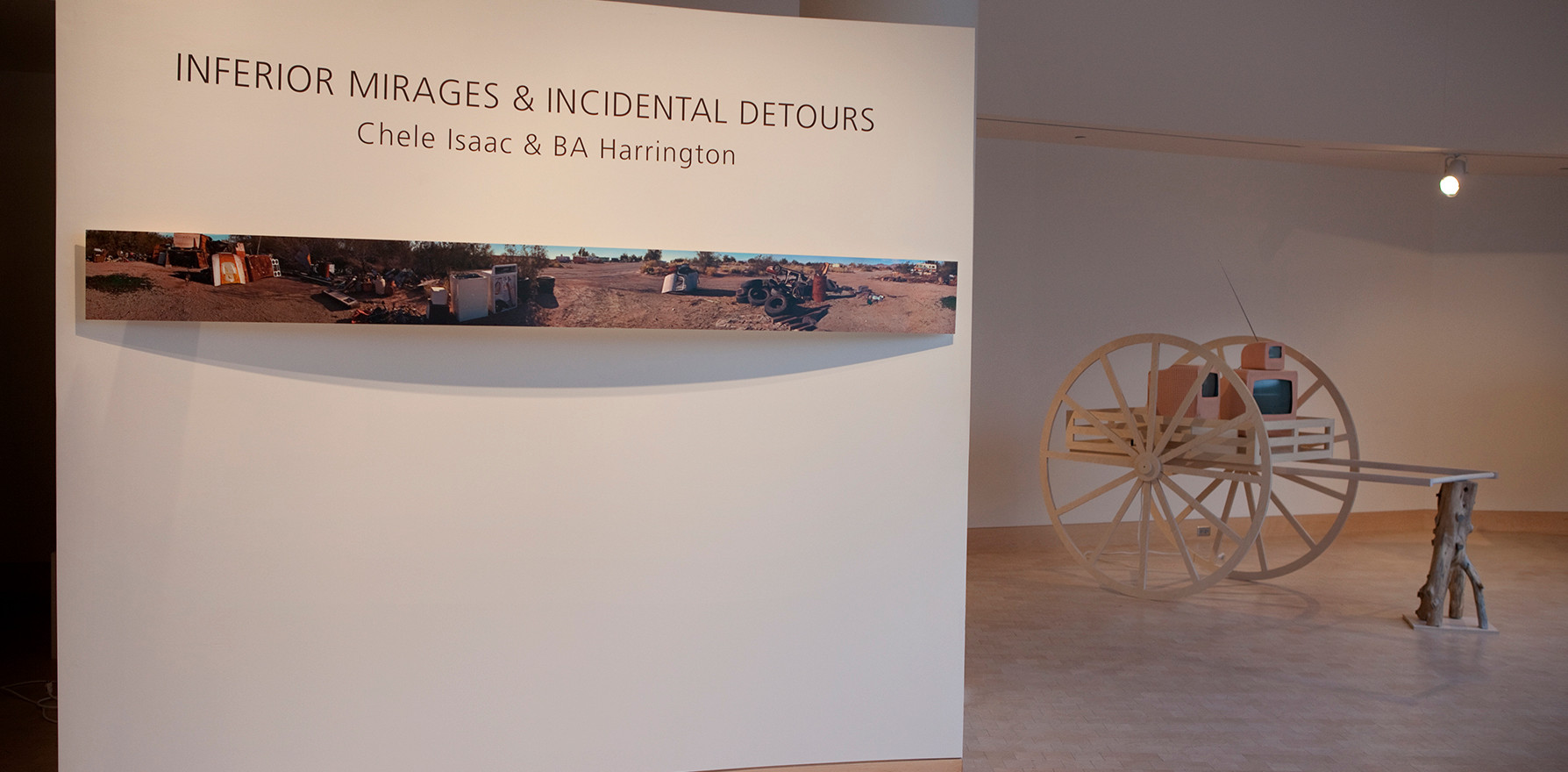 Collaborative show with BA Harrington at the Watrous Gallery, Madison, WI 2012 All woodworking, BA Harrington. Video and photography, Chele Isaac.