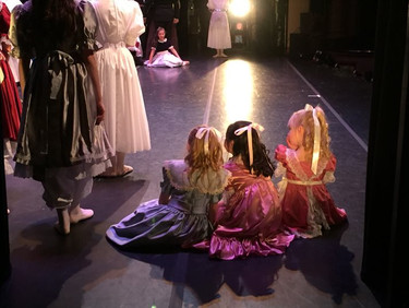 Little dancers at the Party in Act One