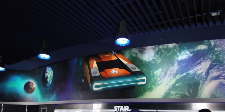 Blacklight Mural- Star Tours Disneyland