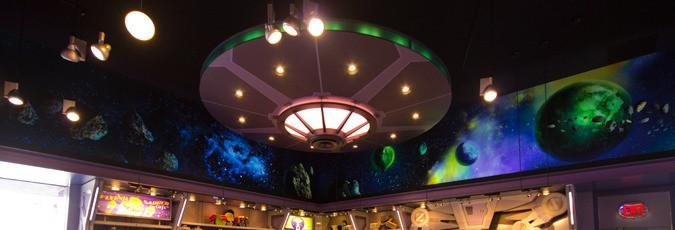 Blacklight Mural- Star Trader Disneyland