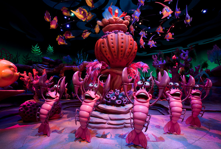 Sculpting-Sebastian's Pedestal Ariel's Undersea Adventure
