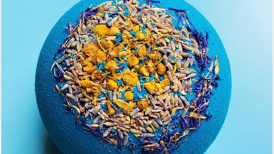Lavender + Chamomile Bath Bomb + Hemp Oil