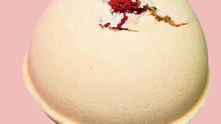 Mango & Coconut Milk Rose Bath Bomb + Hemp Oil