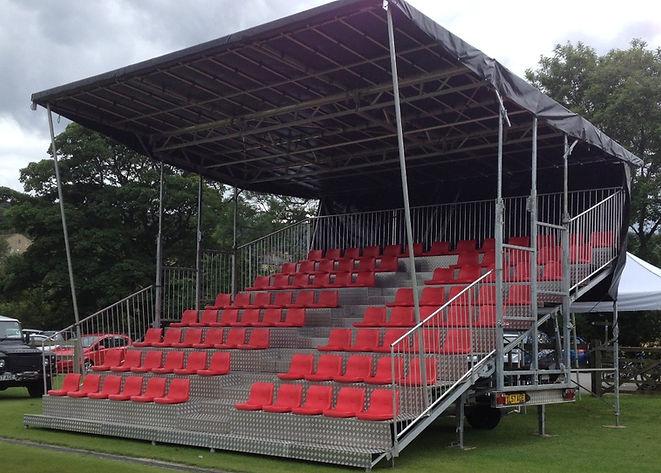 90 Seat Mobile Grandstand Hire