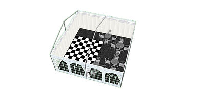 3D Layout Illustration of a Wedding Marquee