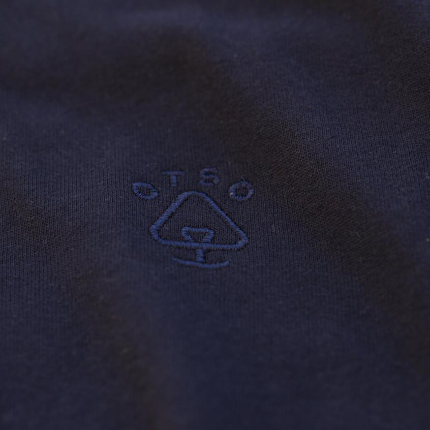 Otso Navy Sweater with Blind logo Close Up