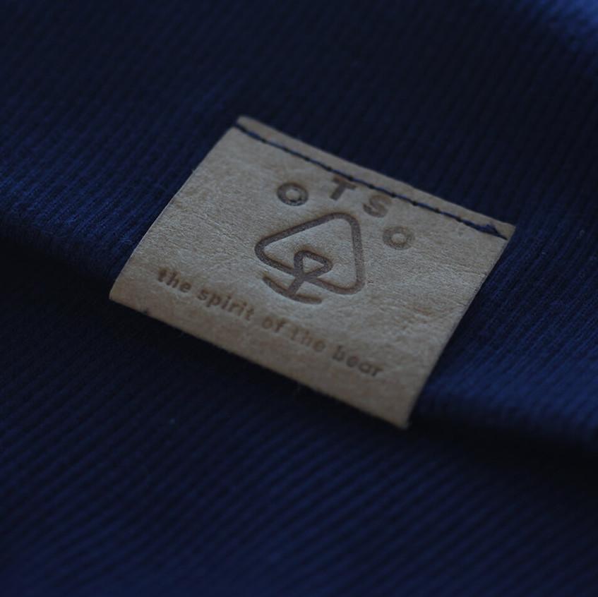 Otso Navy Sweater with Blind logo Close Up 2