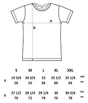 Otso T Shirt Sizing