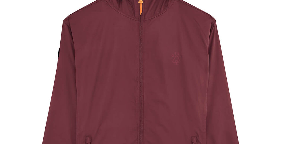 Burgundy Recycled Windbreaker Jacket