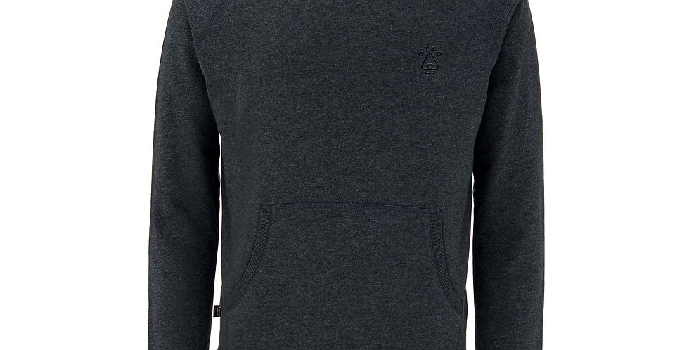 Charcoal Organic Cotton Pull Over Hoodie