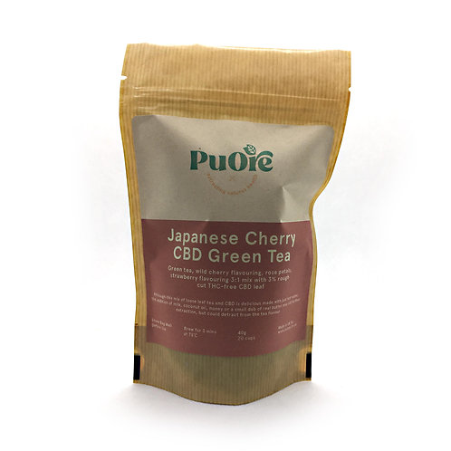 PuOre Japanese Cherry CBD Tea