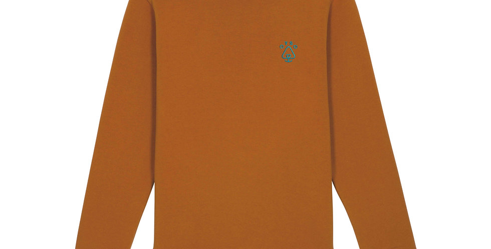 Burnt Orange and Teal Logo Sweater