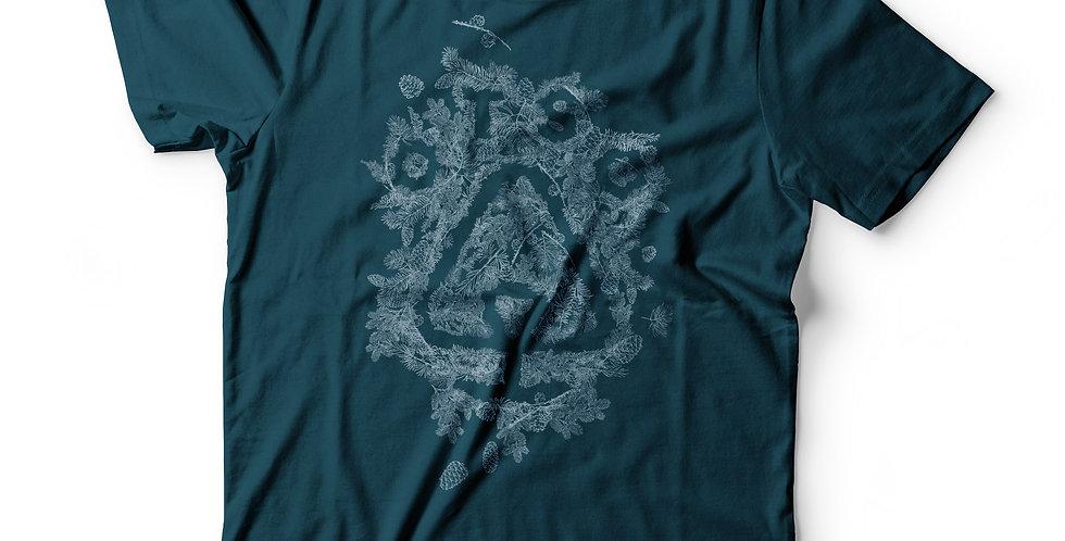 Otso Teal Pine Needle Logo Tee