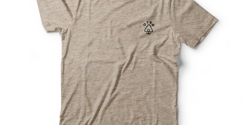 Otso Heather Sand Logo Tee