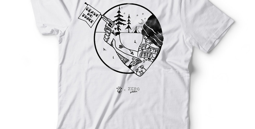 White: Zero Yorkshire X Otso — Leave No Trace Tee