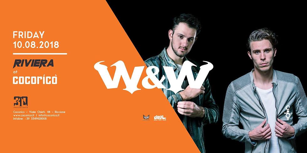 W&W COCORICO RICCIONE 10 AGOSTO 2018