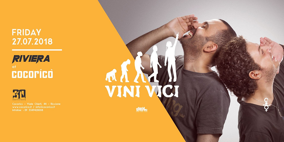 VINI VICI COCORICO RICCIONE 27 LUGLIO 2018