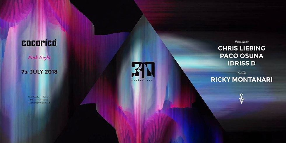 CHRIS LIEBING & PACO OSUNA COCORICO RICCIONE 7 LUGLIO 2018 NOTTE ROSA