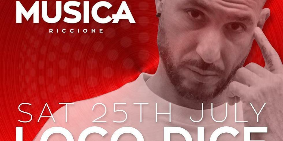 LOCO DICE MUSICA RICCIONE 25 LUGLIO 2020