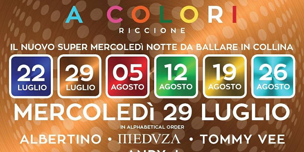 ALBERTINO, MEDUZA, TOMMY VEE MUSICA RICCIONE 29 LUGLIO 2020