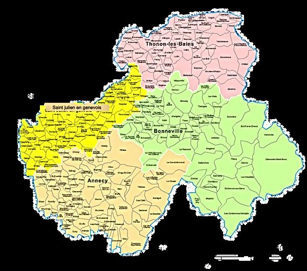 arrondissements-et-communes-Haute-Savoie