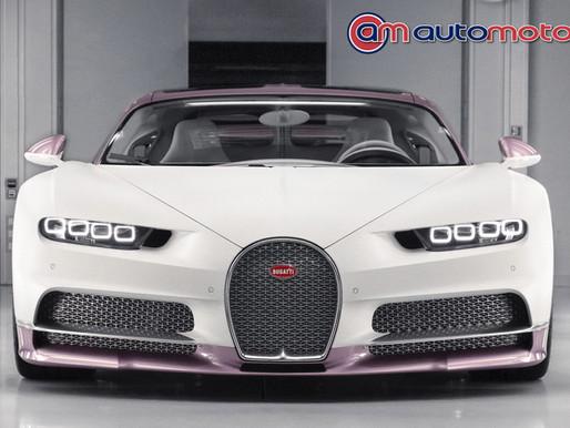Marido presenteia mulher com Bugatti cor de rosa de R$ 17 milhões
