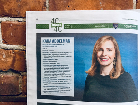 KSLN Partner, Kara M. Addelman, Receives 40 Under 40 Honor