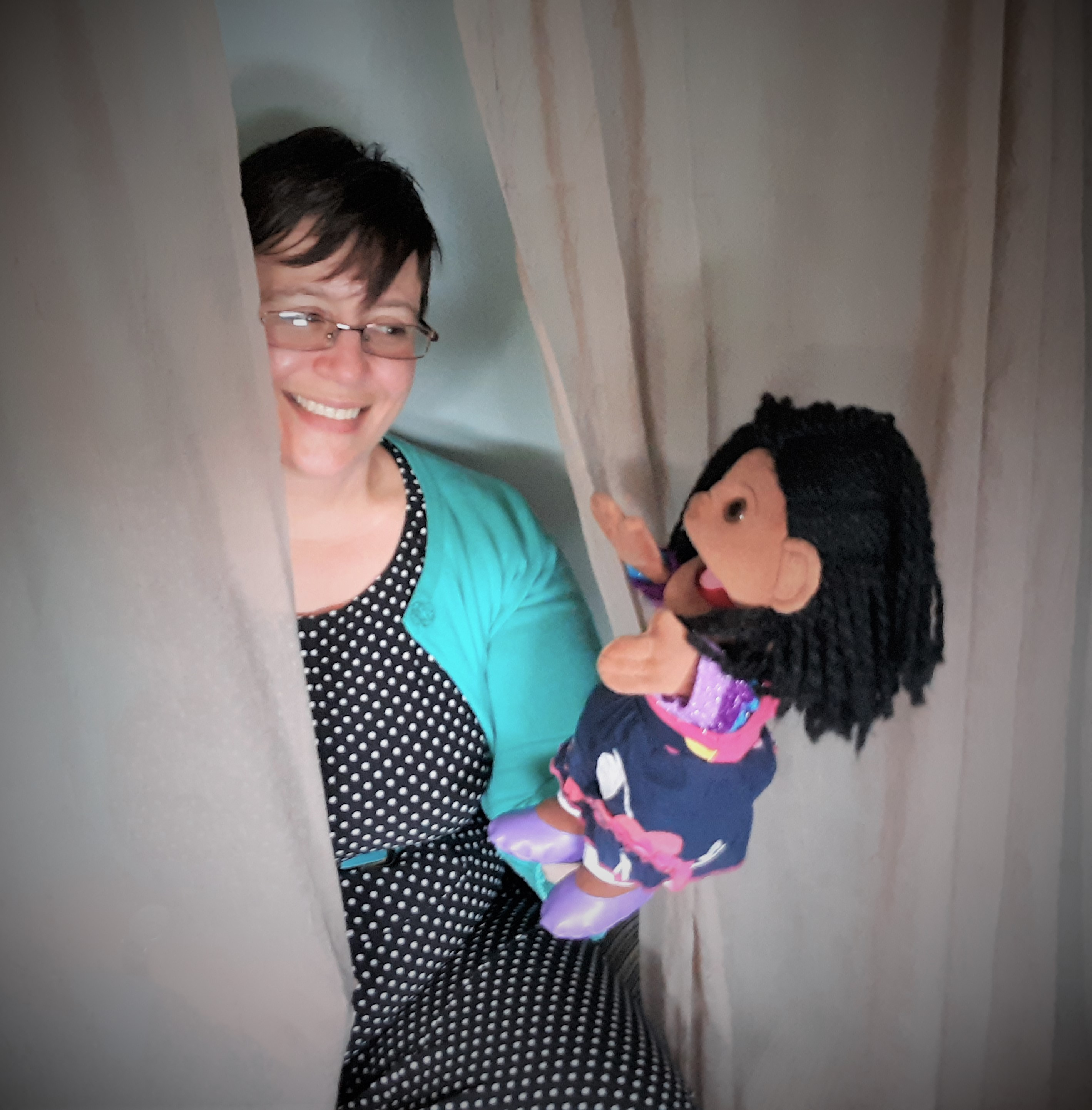 Crystal with puppet - 1