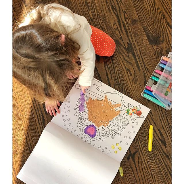 Coloring Pads and Sparkly Crayons