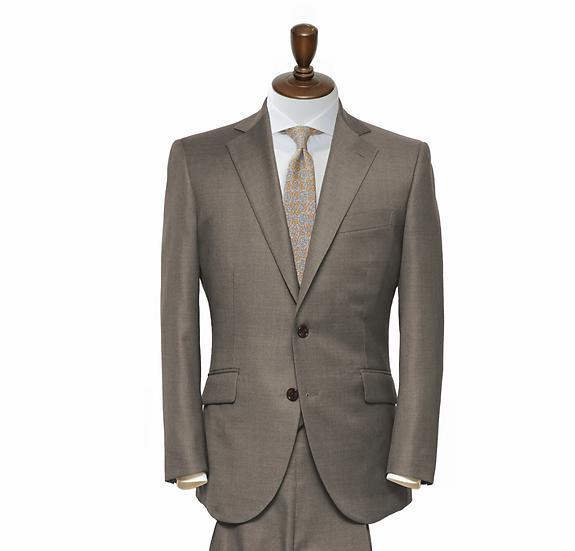 SUIT SUGGESTION ブラウンプレーン 2ピーススーツ