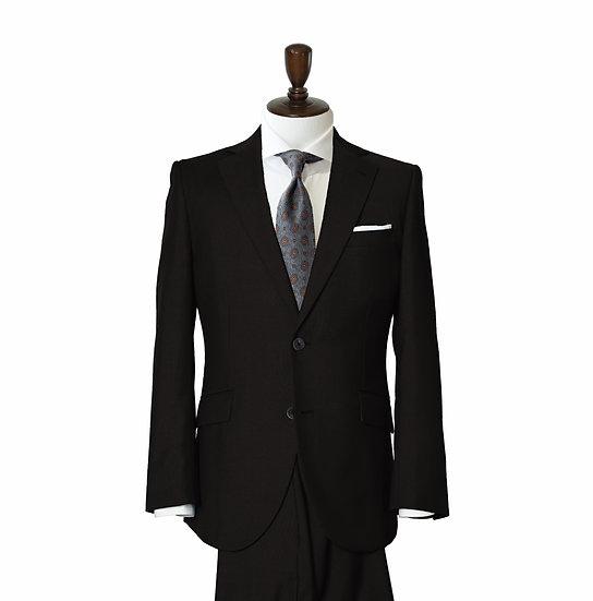 SUIT SUGGESTION ブラックプレーン 2ピーススーツ
