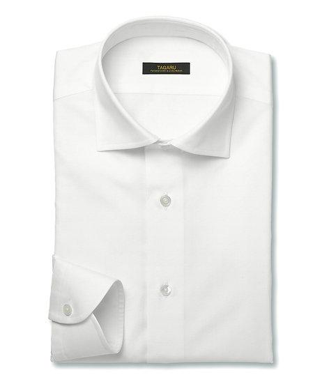50/1ドレスシャツ  ブロード無地(ホワイト)