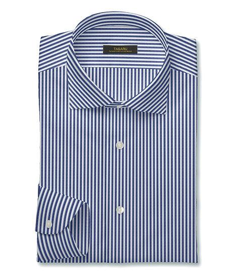 50/1ドレスシャツ  ロンドンストライプ(ブルー)