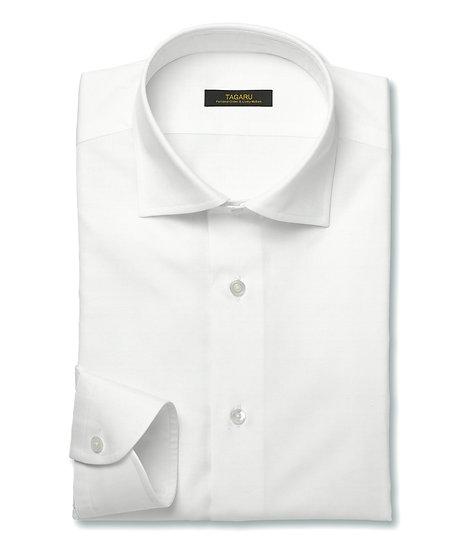 40/1ドレスシャツ  ピンポイントオックス無地(ホワイト)