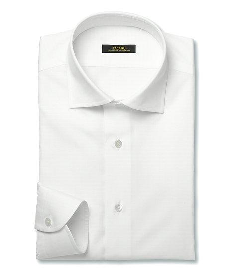 40/1ドレスシャツ  オックスフォード無地(ホワイト)
