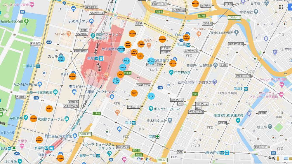 東京駅周辺テーラーマップ