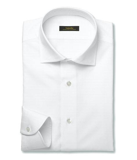 40/1ドレスシャツ  ツイル無地(ホワイト)