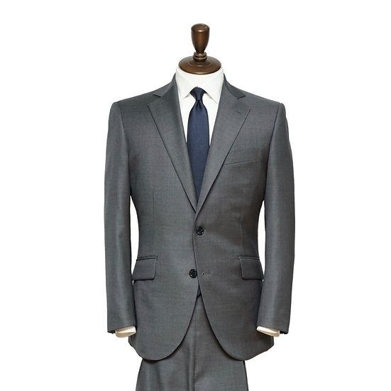 DORMEUIL グレープレーン スーツ