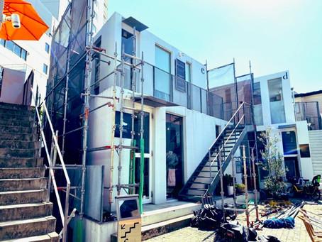 外壁修復工事と営業時間